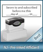 NJ-AFF-XL115 - New Jersey Notary Pre-Inked Affidavit Stamp
