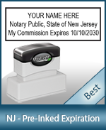 The Highest quality notary commission stamp for New Jersey.