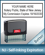 This durable, quality Notary commission stamp for New Jersey is available right here. Fast shipping!