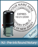 An affordable round self-inking notary stamp for New Jersey can be purchased quickly right here.