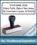 NJ-COMM-T - New Jersey Notary Traditional Expiration Stamp