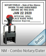 New Mexico Notary Combination Date Stamp