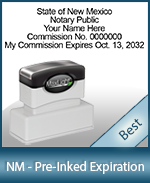 The Highest quality notary commission stamp for New Mexico.