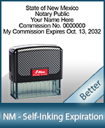 This durable, quality Notary commission stamp for New Mexico is available right here. Fast shipping!