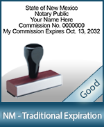 NM-COMM-T - New Mexico Notary Traditional Expiration Stamp