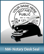 This sturdy New Mexico Notary Desk Seal is made of steel construction and built to last.