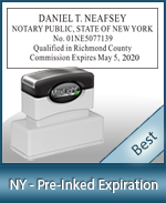 The Highest quality notary commission stamp for New York.