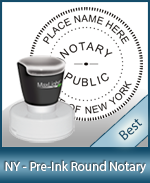 This High-quality Round New York Notary stamp gives a clean, clear impression every time.