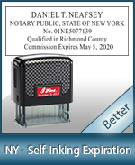 This durable, quality Notary commission stamp for New York is available right here. Fast shipping!