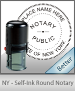 An affordable round self-inking notary stamp for New York can be purchased quickly right here.