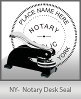 This sturdy New York Notary Desk Seal is made of steel construction and built to last.