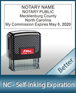 This durable, quality Notary commission stamp for North Carolina is available right here. Fast shipping!