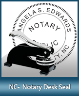 This sturdy North Carolina Notary Desk Seal is made of steel construction and built to last.