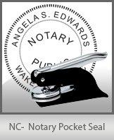 This North Carolina notary seal is made to last. This quality, affordable notary embosser can be purchased right here.