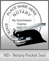 This North Dakota notary seal is made to last. This quality, affordable notary embosser can be purchased right here.