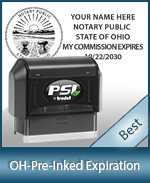 The Highest quality notary commission stamp for Ohio.
