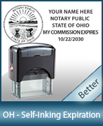 This durable, quality Notary commission stamp for Ohio is available right here. Fast shipping!