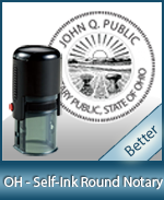 An affordable round self-inking notary stamp for Ohio can be purchased quickly right here.
