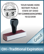 Ohio Notary Traditional Expiration Stamp