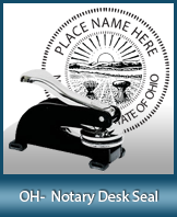 This sturdy Ohio Notary Desk Seal is made of steel construction and built to last.