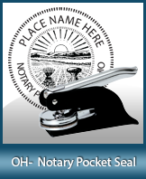 This Ohio notary seal is made to last. This quality, affordable notary embosser can be purchased right here.