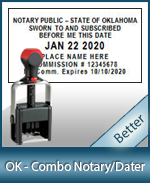 DATER-OK - Oklahoma Notary Combination Date Stamp