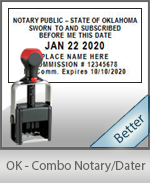 Oklahoma Notary Combination Date Stamp