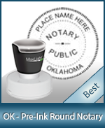 This High-quality Round Oklahoma Notary stamp gives a clean, clear impression every time.