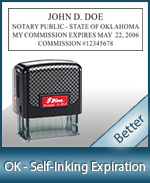 This durable, quality Notary commission stamp for Oklahoma is available right here. Fast shipping!