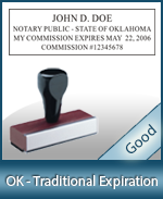 OK-COMM-T - Oklahoma Notary Traditional Expiration Stamp