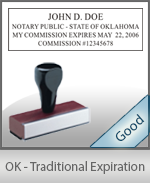 Oklahoma Notary Traditional Expiration Stamp