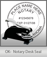 This sturdy Oklahoma Notary Desk Seal is made of steel construction and built to last.