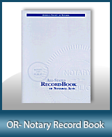 This Oregon Notary Record Book, also known as a Notary Journal is an essential product for all notaries.