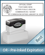 The Highest quality notary commission stamp for Oregon.