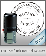 An affordable round self-inking notary stamp for Oregon can be purchased quickly right here.