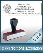 Oregon Notary Traditional Expiration Stamp