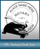 This sturdy Oregon Notary Desk Seal is made of steel construction and built to last.