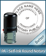An affordable round self-inking notary stamp for Pennsylvania can be purchased quickly right here.