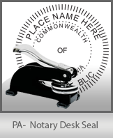 This sturdy Pennsylvania Notary Desk Seal is made of steel construction and built to last.