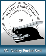 This Pennsylvania notary seal is made to last. This quality, affordable notary embosser can be purchased right here.
