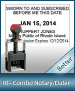 DATER-RI - Rhode Island Notary Combination Date Stamp