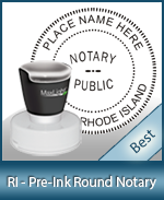 This High-quality Round Rhode Island Notary stamp gives a clean, clear impression every time.