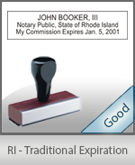Rhode Island Notary Traditional Expiration Stamp