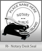 This sturdy Rhode Island Notary Desk Seal is made of steel construction and built to last.