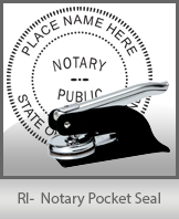 This Rhode Island notary seal is made to last. This quality, affordable notary embosser can be purchased right here.