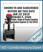 DATER-SC - South Carolina Notary Combination Date Stamp