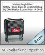 This durable, quality Notary commission stamp for South Carolina is available right here. Fast shipping!