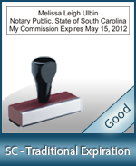 SC-COMM-T - South Carolina Notary Traditional Expiration Stamp