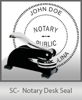 This sturdy South Carolina Notary Desk Seal is made of steel construction and built to last.