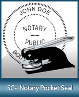 This South Carolina notary seal is made to last. This quality, affordable notary embosser can be purchased right here.